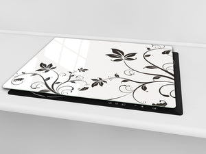 Glass Cutting Board and Worktop Saver D06 Flowers Series: Flower 5