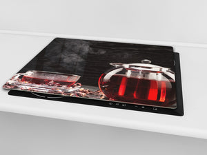 Chopping Board - Induction Cooktop Cover D04 Drinks Series: Tea 2