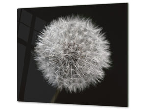 Glass Cutting Board and Worktop Saver D06 Flowers Series: Dandelion 3