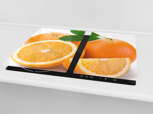 KITCHEN BOARD & Induction Cooktop Cover  D07 Fruits and vegetables: Orange 23