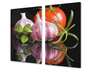 KITCHEN BOARD & Induction Cooktop Cover  D07 Fruits and vegetables: Garlic