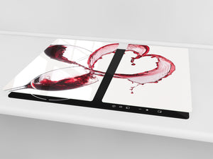 Chopping Board - Induction Cooktop Cover D04 Drinks Series: Wine 15