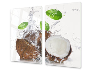 KITCHEN BOARD & Induction Cooktop Cover  D07 Fruits and vegetables: Coconut 9