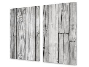 Tempered GLASS Kitchen Board – Impact & Scratch Resistant D10A Textures Series A: Wood 19