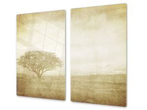 Tempered GLASS Kitchen Board D09 Other: Tree 5