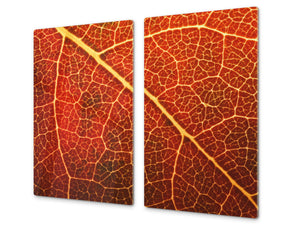 Tempered GLASS Kitchen Board – Impact & Scratch Resistant D10A Textures Series A: Leaves 32