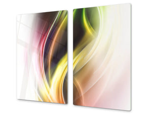 Tempered GLASS Cutting Board D01 Abstract Series: Abstract Art 53