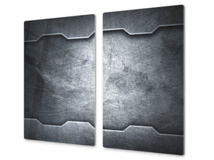 Tempered GLASS Kitchen Board – Impact & Scratch Resistant D10A Textures Series A: Texture 102