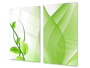 Tempered GLASS Cutting Board D01 Abstract Series: Leaves 17