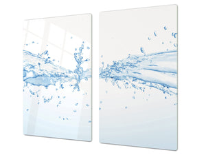 Tempered GLASS Cutting Board 60D10: Drops of water 3