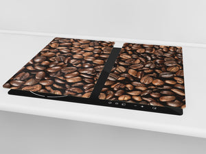KITCHEN BOARD & Induction Cooktop Cover D05 Coffee Series: Coffee 134