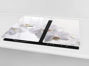 Glass Cutting Board and Worktop Saver D06 Flowers Series: Orchid 1