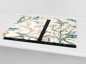 Glass Cutting Board and Worktop Saver D06 Flowers Series: Drawing 11