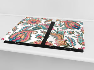 Glass Cutting Board and Worktop Saver D06 Flowers Series: Drawing 66