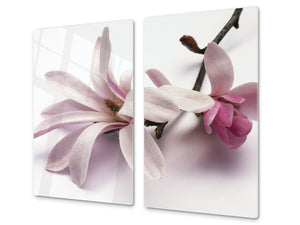 Glass Cutting Board and Worktop Saver D06 Flowers Series: Flower 3