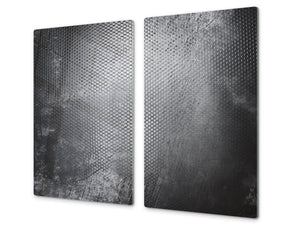 Tempered GLASS Kitchen Board – Impact & Scratch Resistant D10B Textures Series B: Concrete