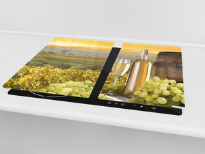 Chopping Board - Induction Cooktop Cover D04 Drinks Series: Wine 28