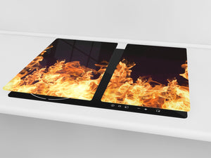 Tempered Glass Cutting Board and Worktop Saver D03 Fire Series: Fire 5