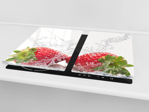 KITCHEN BOARD & Induction Cooktop Cover  D07 Fruits and vegetables: Strawberry 30