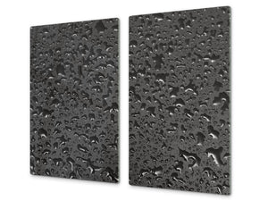 Tempered GLASS Kitchen Board – Impact & Scratch Resistant D10B Textures Series B: Water 25