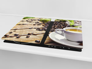KITCHEN BOARD & Induction Cooktop Cover D05 Coffee Series: Coffee 110
