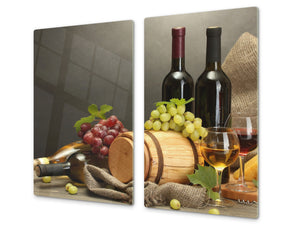 Chopping Board - Induction Cooktop Cover D04 Drinks Series: Wine 22