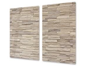 Tempered GLASS Kitchen Board – Impact & Scratch Resistant D10A Textures Series A: Brick wall 2