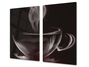 KITCHEN BOARD & Induction Cooktop Cover D05 Coffee Series: Coffee 6