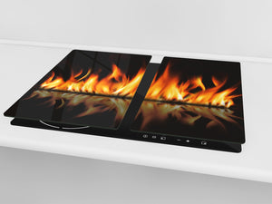 Tempered Glass Cutting Board and Worktop Saver D03 Fire Series: Fire 2