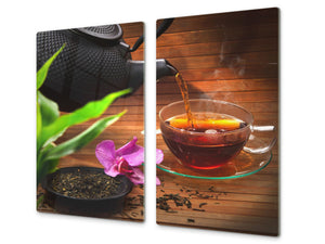 Chopping Board - Induction Cooktop Cover D04 Drinks Series: Tea 3