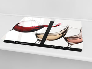 Chopping Board - Induction Cooktop Cover D04 Drinks Series: wine 8