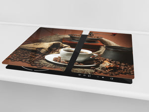 KITCHEN BOARD & Induction Cooktop Cover D05 Coffee Series: Coffee 94