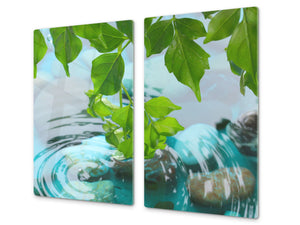 Tempered GLASS Kitchen Board – Impact & Scratch Resistant; D08 Nature Series: Stone 1