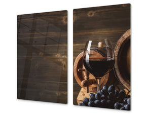 Chopping Board - Induction Cooktop Cover D04 Drinks Series: wine 9