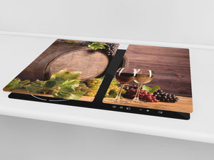 Chopping Board - Induction Cooktop Cover D04 Drinks Series: Wine 25