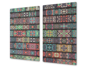 Chopping Board - Induction Cooktop Cover D14 Patterns and Mandalas Series: Moroccan 1