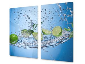 KITCHEN BOARD & Induction Cooktop Cover  D07 Fruits and vegetables: Lime 49