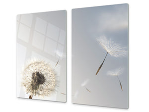 Glass Cutting Board and Worktop Saver D06 Flowers Series: Dandelion 1