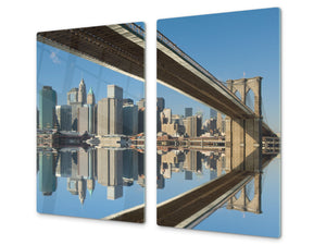 CUTTING BOARD and Cooktop Cover D11 Cities Series: bridge 1