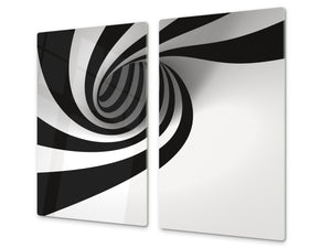 Tempered GLASS Cutting Board D01 Abstract Series: Abstract Art 32