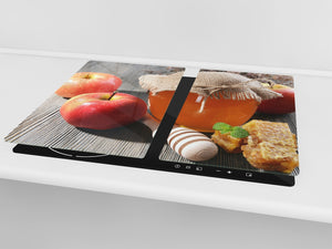 KITCHEN BOARD & Induction Cooktop Cover  D07 Fruits and vegetables: Honey