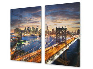 CUTTING BOARD and Cooktop Cover D11 Cities Series: bridge 2