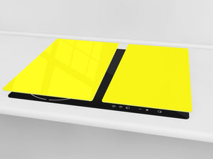 Tempered GLASS Kitchen Board D18 Series of colors: Lemon Yellow