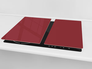 Tempered GLASS Kitchen Board D18 Series of colors: Burgundy