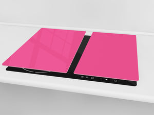 Tempered GLASS Kitchen Board D18 Series of colors: Pink