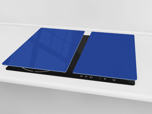 Tempered GLASS Kitchen Board D18 Series of colors: Royal Navy Blue