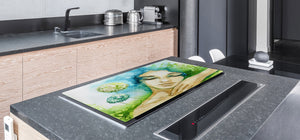 Worktop saver and Pastry Board – Cooktop saver; Series: Outside Series DD19 A sleeping woman