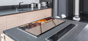 UNIQUE Tempered GLASS Kitchen Board Fruit and Vegetables series DD02 Delicacies 2