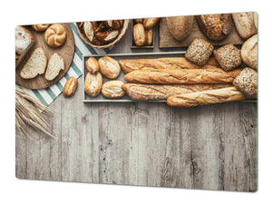 HUGE TEMPERED GLASS CHOPPING BOARD – Bread and flour series DD09 Breakfast rolls 1