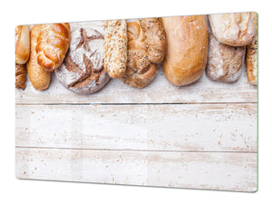 HUGE TEMPERED GLASS CHOPPING BOARD – Bread and flour series DD09 Breads 5